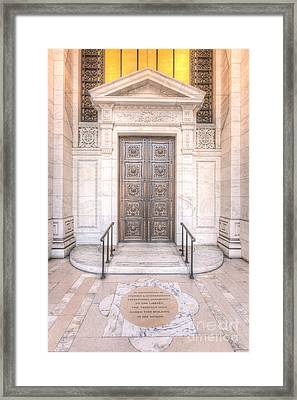 New York Public Library Entrance I Framed Print by Clarence Holmes