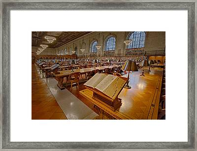 New York Public Library Rose Main Reading Room  Framed Print by Susan Candelario