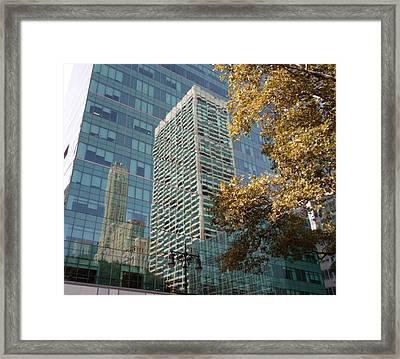 New York Reflections Framed Print by Jenna Mengersen