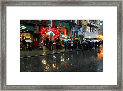 New York Reflections Framed Print by Linda Unger