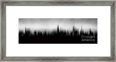 New York Skyline Abstract Framed Print by Az Jackson