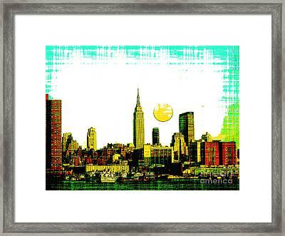 New York Skyline  Framed Print by Celestial Images