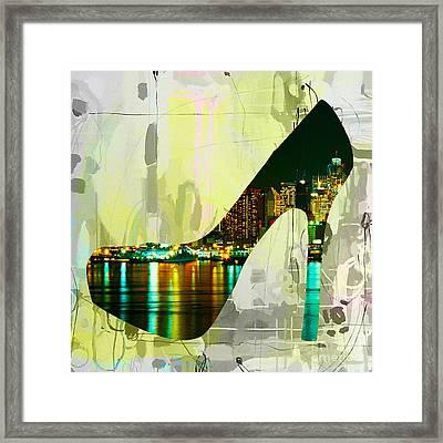 New York Skyline In A Shoe Framed Print by Marvin Blaine