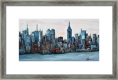 New York Skyline Framed Print by Michael  Accorsi