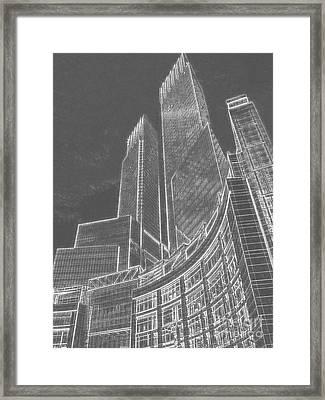 New York Skylines Framed Print by Celestial Images