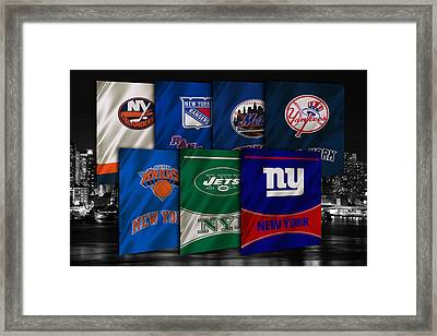 New York Sports Teams Framed Print by Joe Hamilton