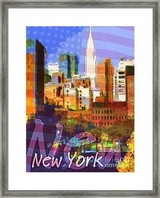 New York Stars Framed Print by Lutz Baar