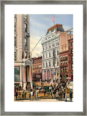 New York Stock Exchange 1882 Framed Print by Mountain Dreams