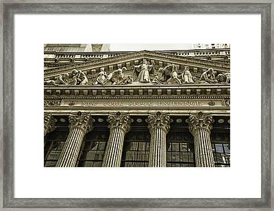 New York Stock Exchange Framed Print by Garry Gay