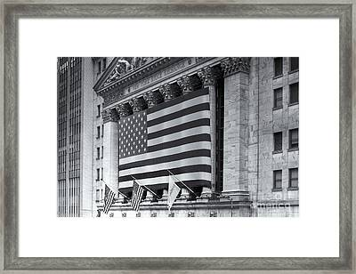 New York Stock Exchange Iv Framed Print by Clarence Holmes