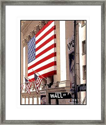 New York Stock Exchange Framed Print by Linda  Parker