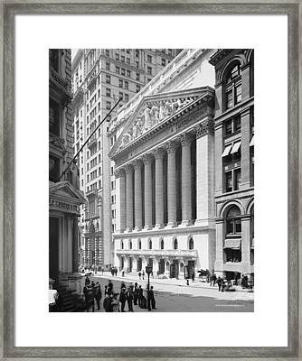 New York Stock Exchange, New York In 1904 Framed Print by American School