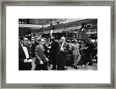 New York Stock Exchange Framed Print by Underwood Archives