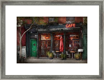 New York - Store - Greenwich Village - Sweet Life Cafe Framed Print by Mike Savad