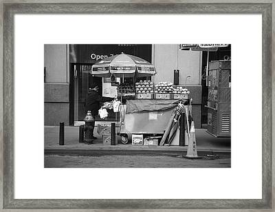 New York Street Photography 6 Framed Print by Frank Romeo