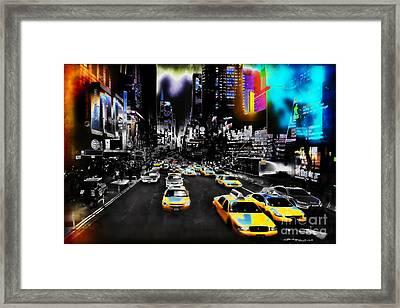 New York Streets Framed Print by Christine Mayfield