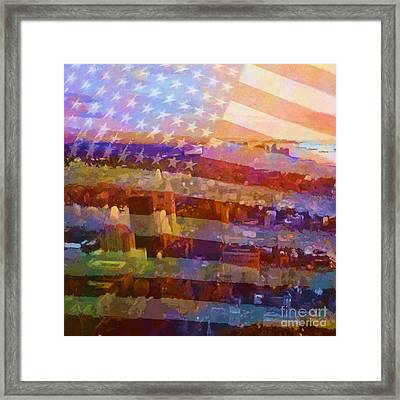 New York Stripes Framed Print by Lutz Baar