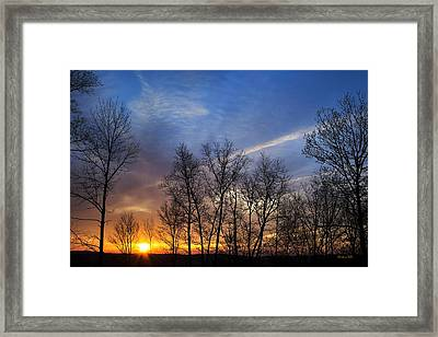 New York Sunset Framed Print by Christina Rollo