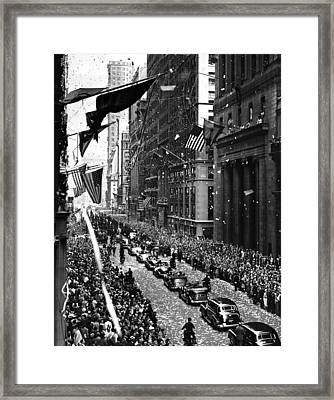New York Ticker Tape Parade Framed Print by Andrew Fare