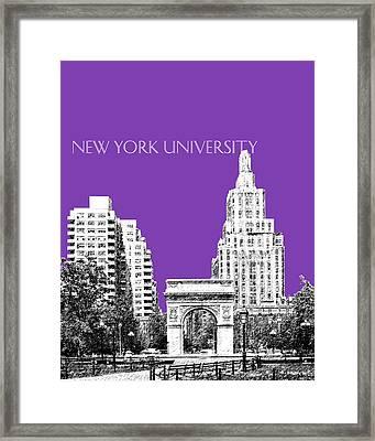 New York University - Washington Square Park - Purple Framed Print by DB Artist