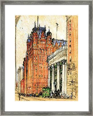New York Waldorf Astoria Hotel 1904 Framed Print by Padre Art