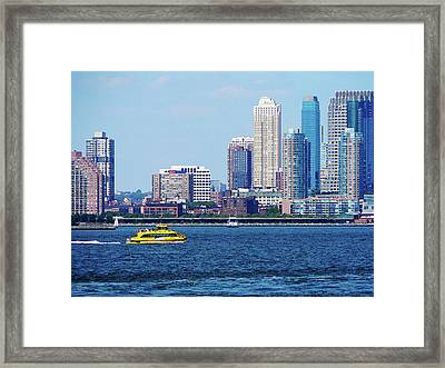 New York Water Taxi Framed Print by Susan Savad