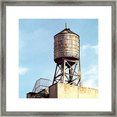 New York Water Tower 1 - New York Scenes  Framed Print by Gary Heller