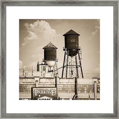 New York Water Tower 8 - Williamsburg Brooklyn Framed Print by Gary Heller