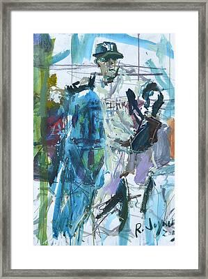 New York Yankees Artwork Framed Print by Robert Joyner