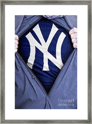 New York Yankees Fan Framed Print by Antony McAulay