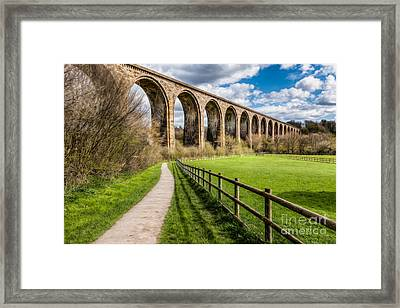 Newbridge Rail Viaduct Framed Print by Adrian Evans