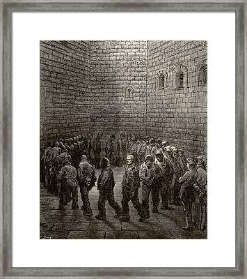 Newgate Prison Exercise Yard Framed Print by Gustave Dore