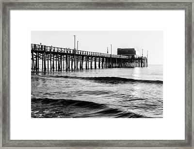 Newport Beach Black And White Series 16 Framed Print by Josh Whalen