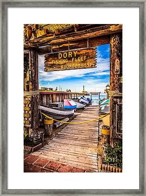 Newport Beach Dory Fishing Fleet Market Photo Framed Print by Paul Velgos