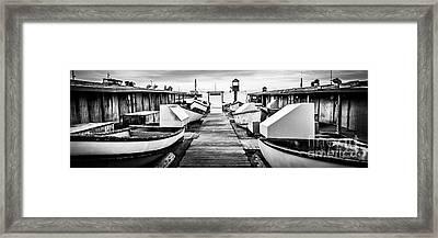 Newport Beach Dory Fishing Fleet Panorama Photo Framed Print by Paul Velgos
