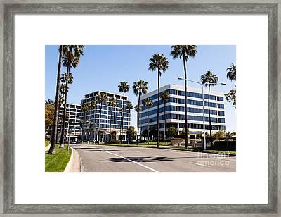Newport Beach Office Buildings Orange County California Framed Print by Paul Velgos