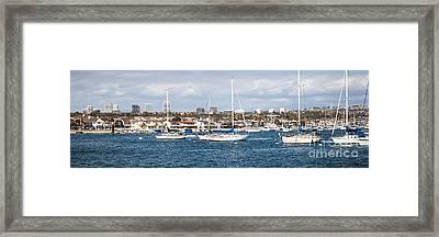 Newport Beach Panorama Framed Print by Paul Velgos
