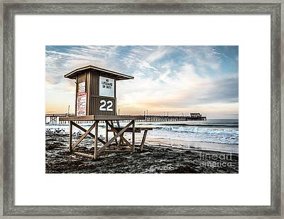 Newport Beach Pier And Lifeguard Tower 22 Photo Framed Print by Paul Velgos