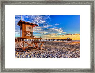 Newport Beach Pier - Wintertime  Framed Print by Jim Carrell