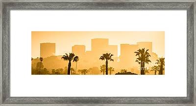 Newport Beach Skyline Panorama Picture Framed Print by Paul Velgos