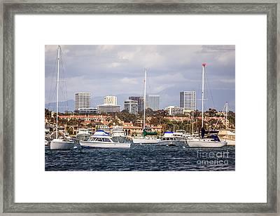 Newport Beach Skyline  Framed Print by Paul Velgos
