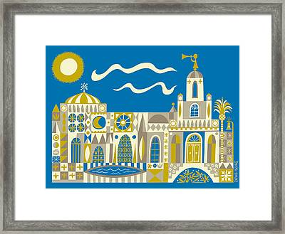 Newport Beach Temple Framed Print by Parker  Jacobs