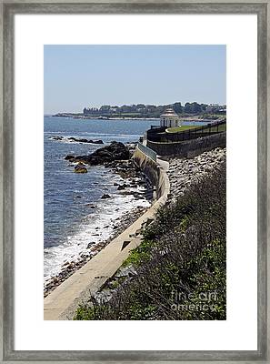 Newport's Cliff Walk View Framed Print by Christiane Schulze Art And Photography