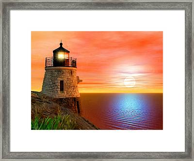 Newport's Gem Framed Print by Lourry Legarde