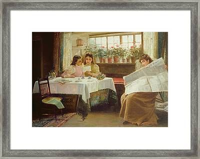 News From The Front Framed Print by Alexander M Rossi