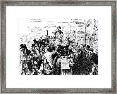 News Of The Murder Of President Lincoln Framed Print by Collection Abecasis