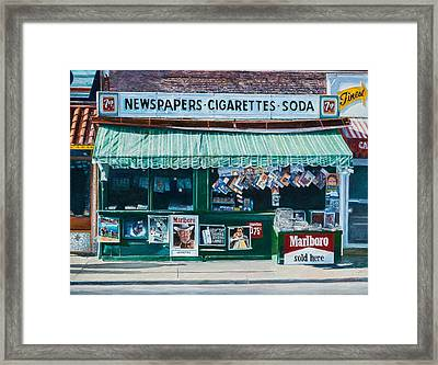 Newspaper Stand West Village Nyc Framed Print by Anthony Butera