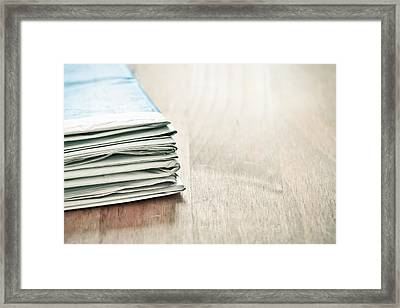 Newspapers Framed Print by Tom Gowanlock