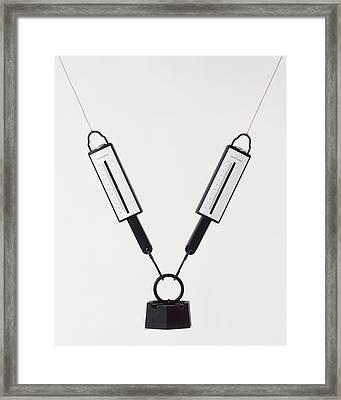 Newton Meters Held At An Angle Framed Print by Dorling Kindersley/uig