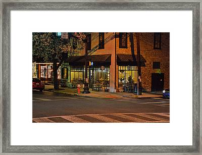 Newtown Nighthawks Framed Print by William Jobes